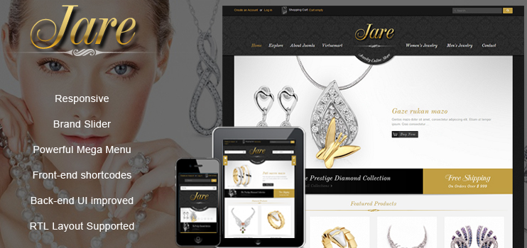 Luxury Responsive Joomla Virtuemart Template - SJ Jare
