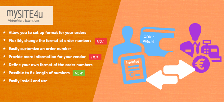 Customized Order Number Plugin for Virtuemart 2