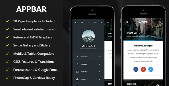 AppBar-Mobile-Tablet-Responsive-Template