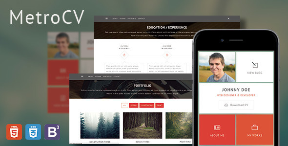 MetroCV-OnePage-Resume-Portfolio-WordPress-Theme