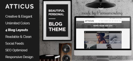 Atticus-v1.2-Minimal-Personal-WordPress-Blog-Theme