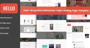HELLO – Responsive Bootstrap App Landing Page