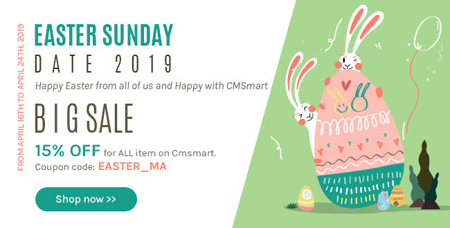 Easter Sunday Date 2019 –   Receive the best thing at cmsmart!